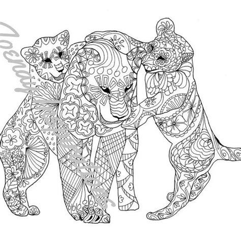 660 images animal coloring pages adults
