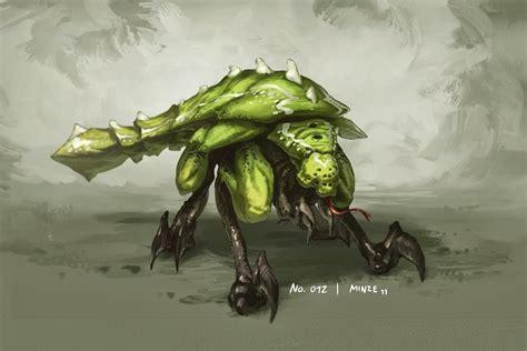 kaiju battle saturday showcase cool monster artwork minze