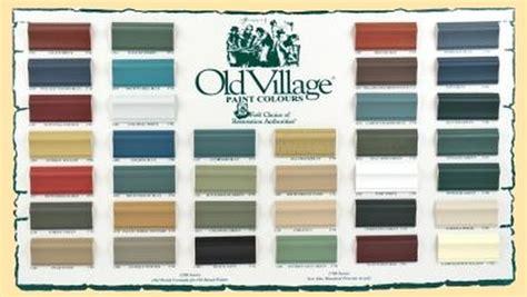 village paint chart timeless treasures