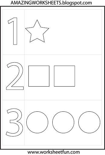 preschool numbers shapes preschool math worksheets numbers preschool