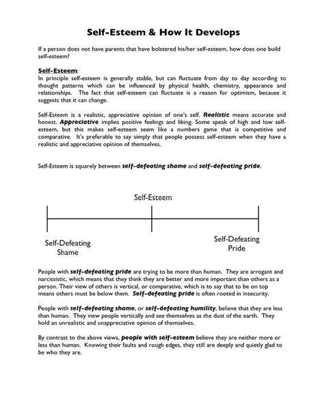 esteem worksheet google search esteem worksheets esteem activities