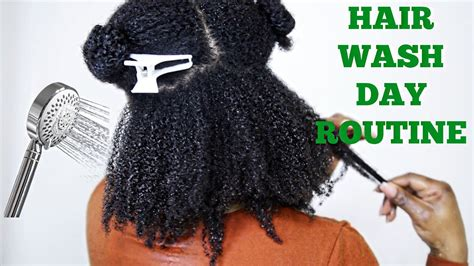 full natural hair wash day routine 4a 4b
