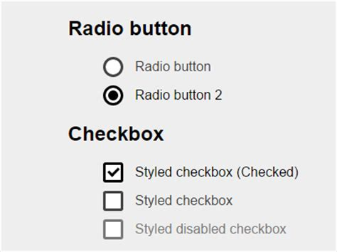 pretty custom checkboxes radio buttons pure css css3