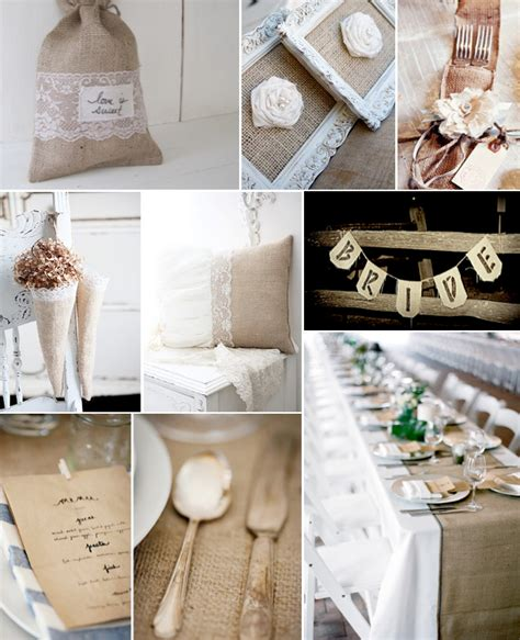 Wedding Decor With Burlap And Lace.html