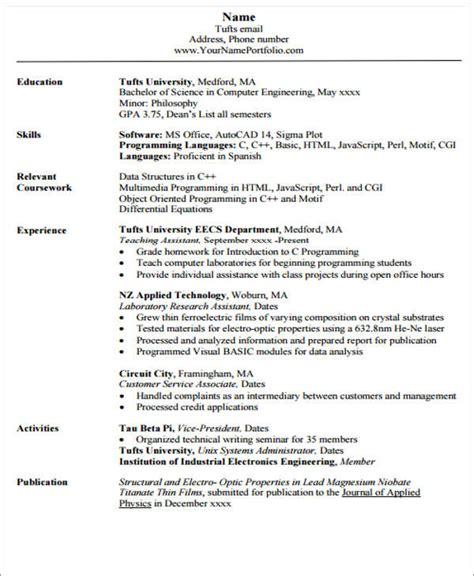 20 engineering resume templates free premium templates