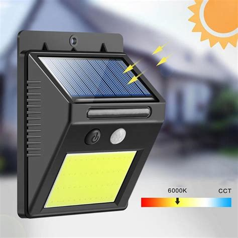 outdoor solar 48led smart ir motion sensor wall
