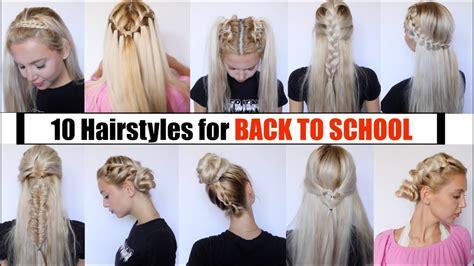 10 cute easy school hairstyles 2018 youtube