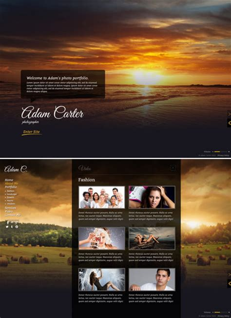 photo gallery html5 photo video gallery template