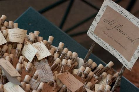 rustic wedding favors flower seed wedding favors corked