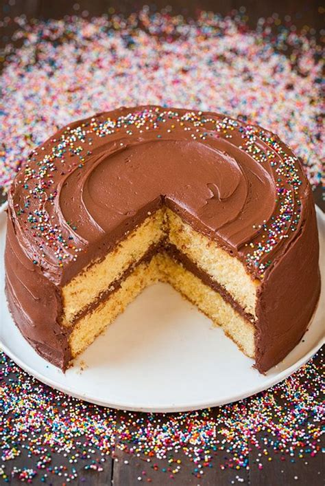 yellow cake chocolate buttercream frosting cooking classy chocolate