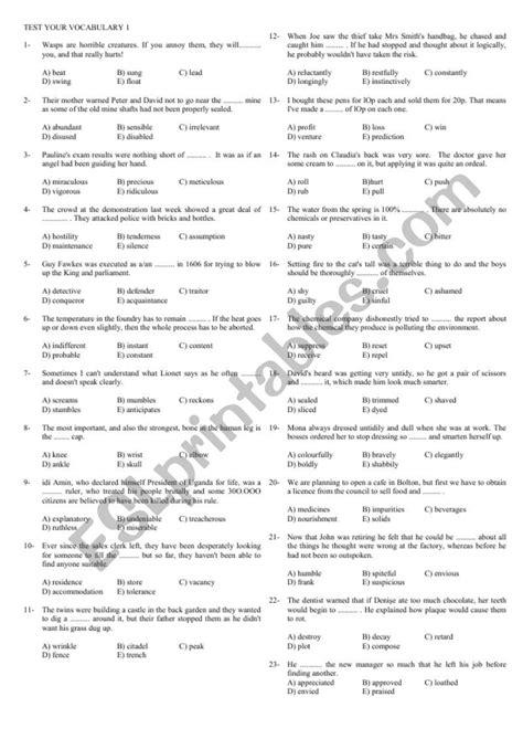 vocabulary exercises upper intermediate esl worksheet pafta23