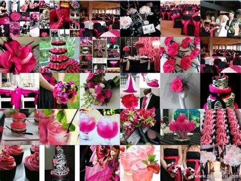 black white fuschia wedding pink wedding theme wedding
