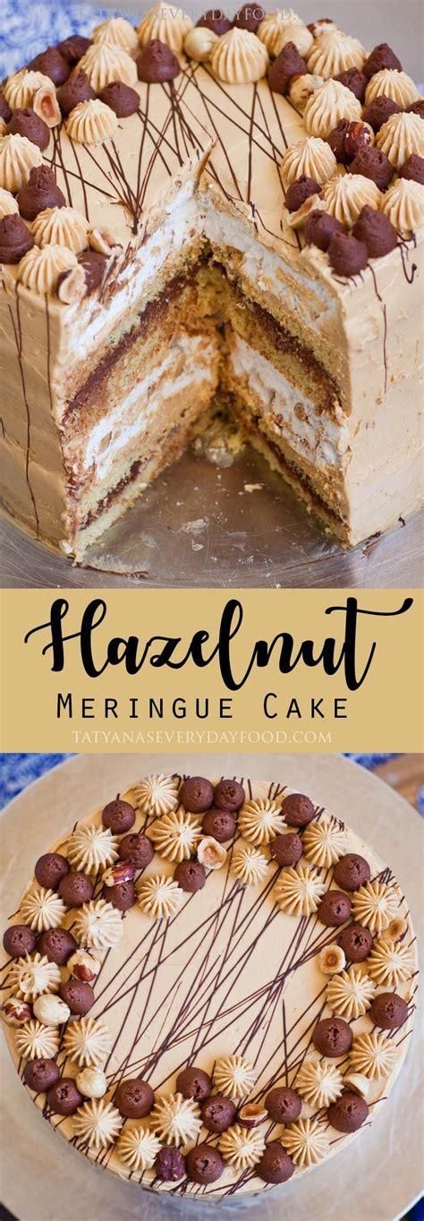 hazelnut cake kyiv torte video recipe meringue cake