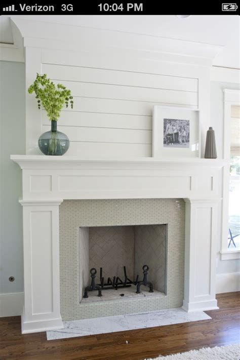inspiration white wood framed fireplace home