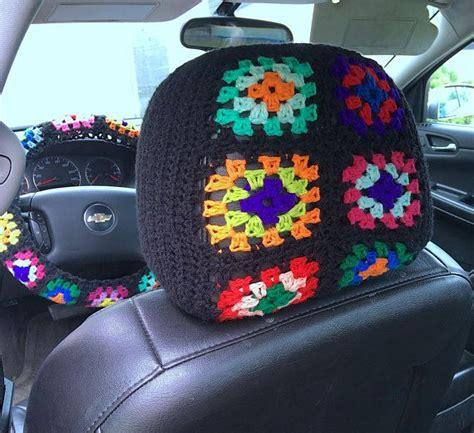 crochet pattern bohemian car decor rear view tassel