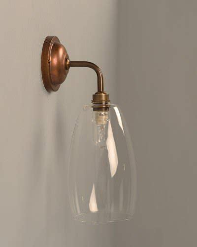 clear glass bathroom wall light ip44 upton industrial