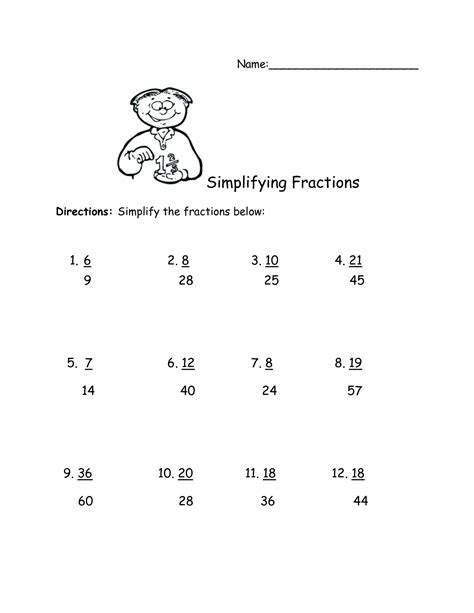 simplifying complex fractions worksheet printable worksheets activities teachers