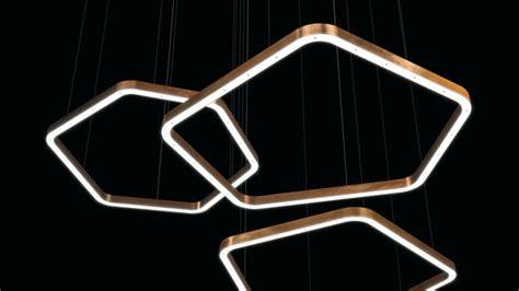 light ring horizontal polygonal suspended lights henge architonic