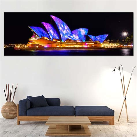 city light canvas wall art black australia illuminated