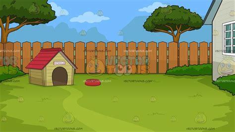 dog house backyard background clipart cartoons vectortoons