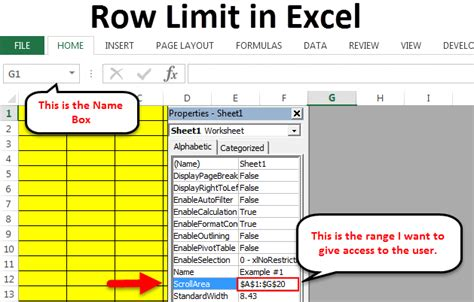row limit excel steps shortcut keys apply row