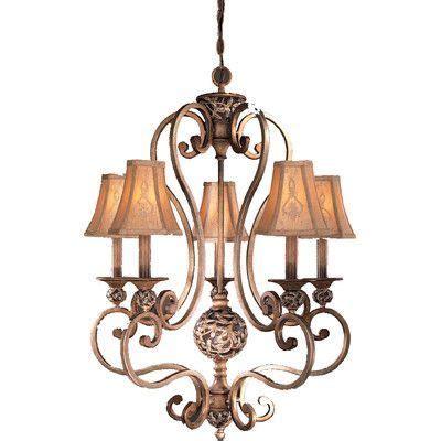 minka lavery salon grand 5 light candle chandelier