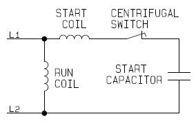 single phase capacitor start capacitor run electric motor