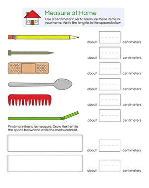 measurement practice centimeters worksheet education