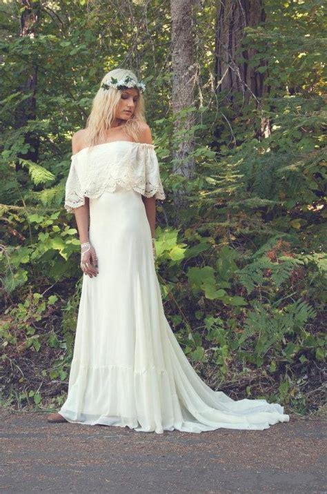 2016 hot sexy shoulder line bohemian wedding dresses