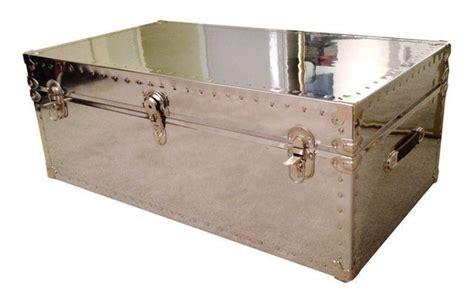 custom aviator mirrored trunk coffee table