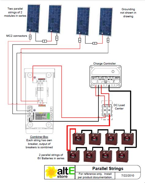 schematic wiring solar panels series parallel solar panels