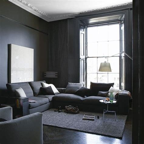 Interior Obsessions Blackest Black Grey Living