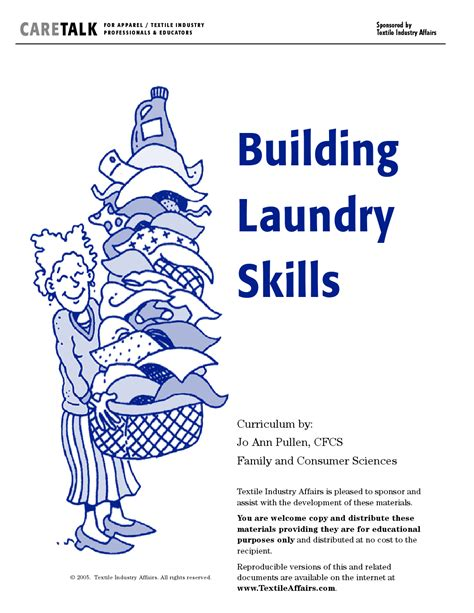laundry curriculum worksheets printable care