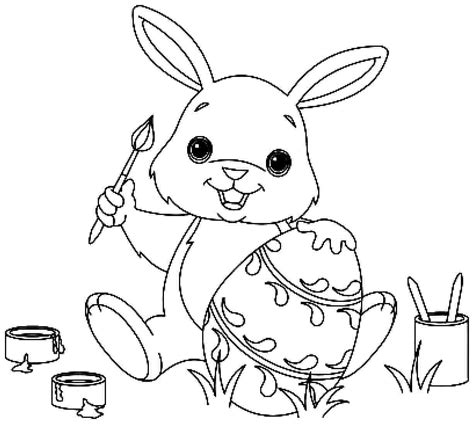 35 easter bunny coloring pages fun