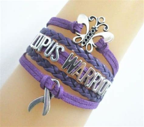 lupus warrior butterfly hope purple awareness ribbon charms