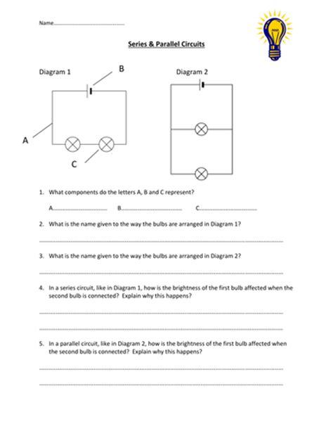 series parallel circuits worksheet edp10ch teaching resources