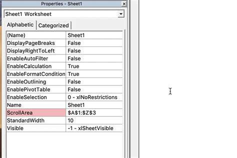 limit rows columns excel worksheet
