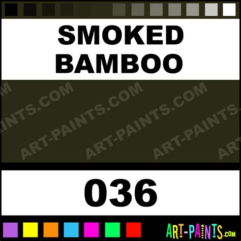 smoked bamboo antique gouache paints 036 smoked bamboo