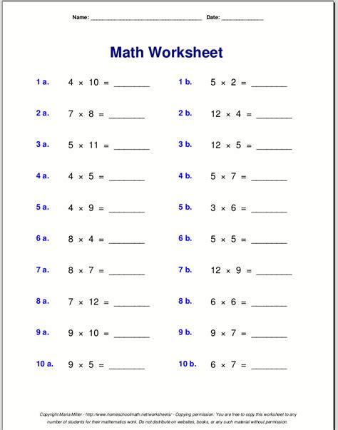 multiplication worksheets grade 3 images free math worksheets