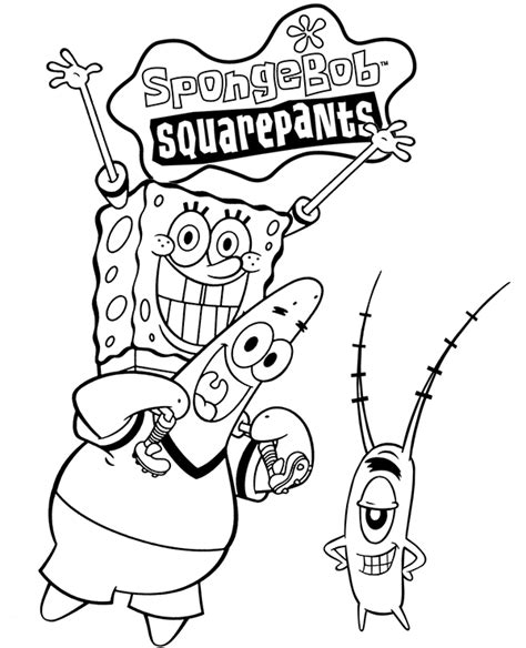 leading characters form spongebob series color
