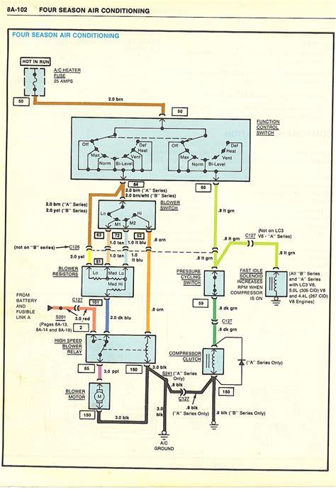 heater ac motor blowing fuses el camino central