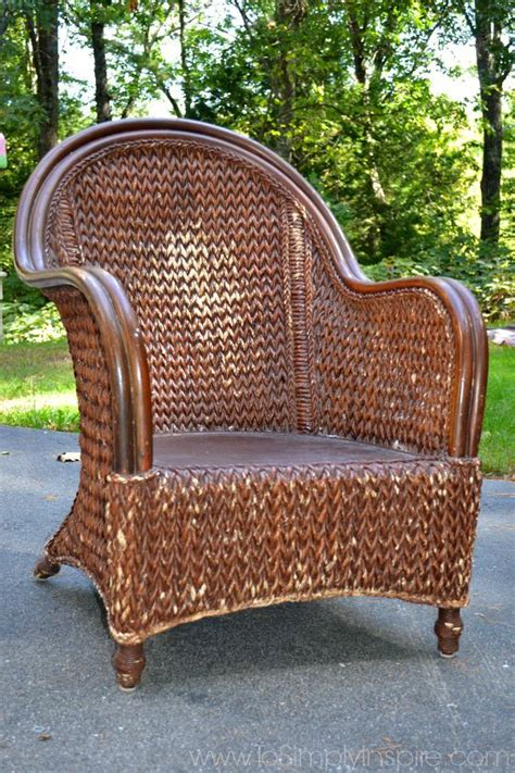 paint wicker furniture brush chair makeover painting wicker