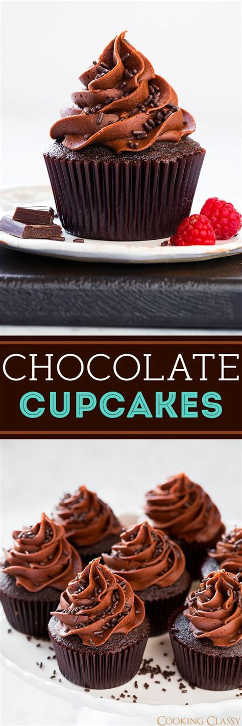 chocolate cupcakes chocolate buttercream frosting cooking classy chocolate