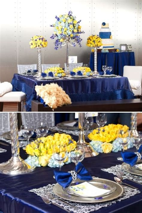 wedding inspirations blue yellow weddings yellow wedding decorations