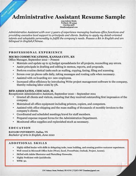 20 skills resumes exles included resume companion