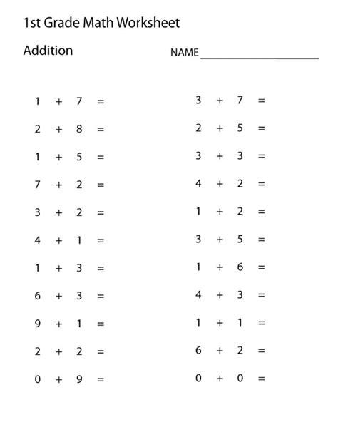 easy math problems printable 1st grade math worksheets