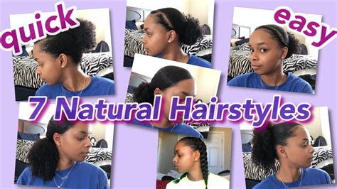 7 hairstyles transitioning hair quick easy aliyah youtube