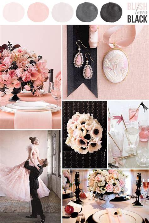 hey color loves soft pink black blush wedding