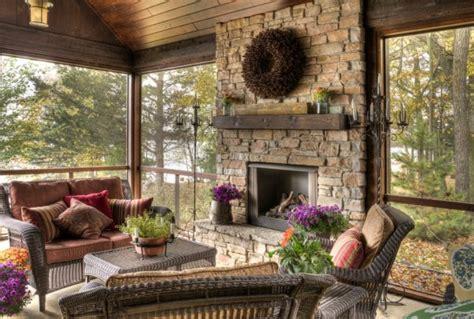 warm ideas autumn fireplace mantel