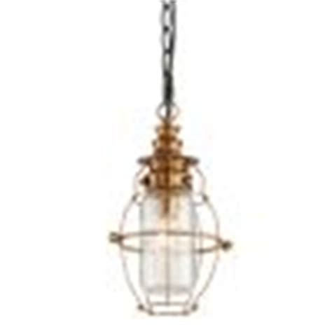 troy lighting f3577 aged brass forged black accents